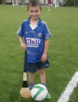 Ciaran Lynch, the first boy to celebrate his birthday at Newmarket's new astroturf last Saturday.