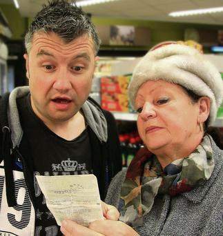 Steven Nolan and Antoinette Hilliard who star in 'Chancers' by Robert Massey at the Cork Arts Theatre from Wednesday, July 9. Set in a small supermarket, the play is a fast and furious comedy about the lengths we will go to when our backs are against the wall.