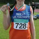 Rachael O'Shea – All-Ireland Junior 400m silver medalist. Photo: Courtesy of West Muskerry AC.