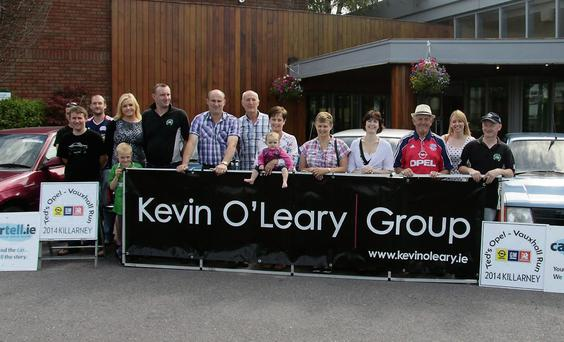 Some of the organisers at the launch of Ted's Opel Vauxhall Run which is based at the Hotel Killarney on August 9. Photo: Courtesy of Ted O'Connell