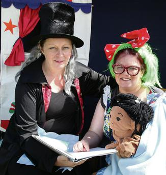 Locals Mary O'Connor and Eileen Houlihan ran the Puppet Theatre which was a huge hit with the children at Boherbue Summer Festival