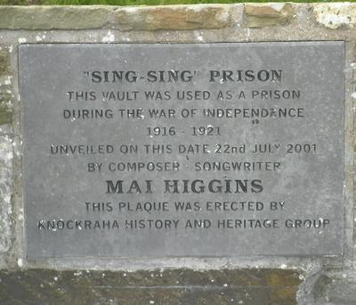 On Sunday there are tours of Sing Sing Prison, Knockraha, thanks to Jim Fitzgerald and the Knockraha Historical and Heritage Society, on the hour every hour between noon and 6pm