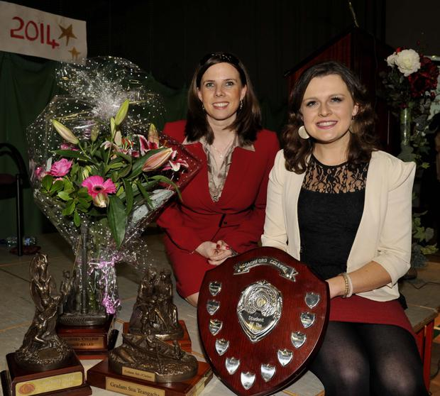 Una Browne, Rylane, received the Student of the Year Award at Coachford College Awards Night from guest of honour, Susan Hayes, past pupil of the College and founder of Hayes Culleton, International Financial Training