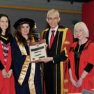 Dr Lisa-Marie O'Riordan receiving her doctorate