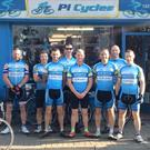 The Revolution Cycling club in Mallow aim to cycle 600km from Mallow to Mizen Head in under 24 hours on Saturday, June 25. They are fundraising for Mallow Search and Rescue. From left to right, Diarmuid Twomey, Indrek Mannik, Shane O'Connor. From left, Gary Lawlor, James Crowley, Anthony Daly and Hugh Twomey