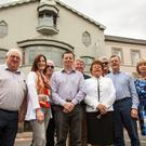 Briery Gap (Bergin): Pat O'Connell, Lorraine Lynch, Michael Sheridan, Alan Kiely, Martin Coughlan, Briery Gap Manager Ann Dunne, Patrick Bergin, Noel O'Driscoll & Liz Barry outside The Briery Gap last Saturday. The Briery Gap relaunched Cinema was in conjunction with The Castle Hotel on Monday