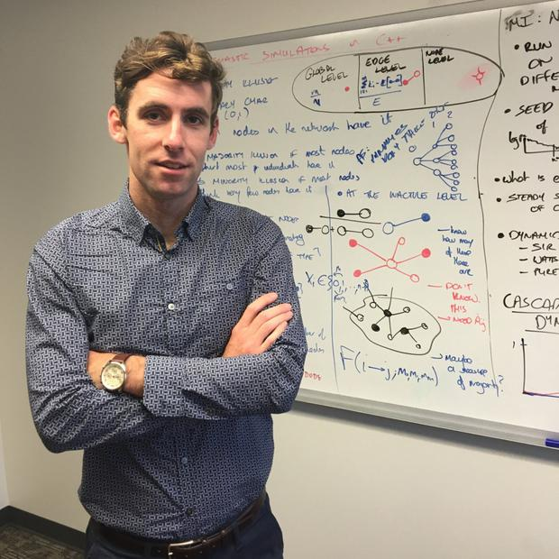 Ballincollig mathematician Peter Fennell is undertaking ground-breaking research in the US