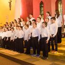 Ballinagree & Rusheen's mixed choir provided some solo and backing sounds for the night