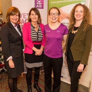 AIB's Macroom representative, Anne Marie McMahon, Guests Speakers Tania Daunt and Rena Buckley with Macroom's E-Park Catherine Costello