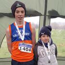 West Muskerry AC's Sean O`Sullivan and Breandán O`Sullivan after winning their individual medals on Sunday in All Ireland B