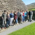 Sixth Class Gaeilge students from McEgan, Macroom, practicising their Irish in west Kerry