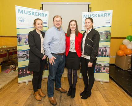 James Healy, Donoughmore Macra na Feirme, with his partner Marie Murphy (second from right) and sisters Mairead and Ethal Healy. Picture by John Delea.