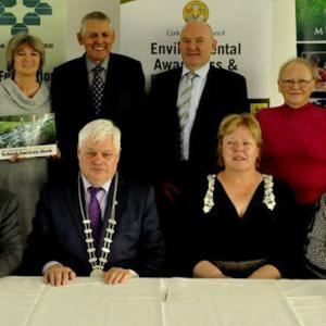 At the Pride In Our Community launch were (back from left) Michael White Mitchelstown; Dr Mary Stack; Cllr Kevin Murphy; Louis Duffy Cork Co Co; Nuala Lynch Carrignavar; Finbarr Motherway Killeagh. Front: Sean Finn Mitchelstown; Sean Holland Ballymore; Deputy Mayor Frank O'Flynn; Mary Ryan Cork Co Co and Annette Lane, Carrigtwohill