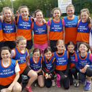 West Muskerry AC Girls U12 & U14 who took part in the Relays at the CIT track in Cork recently
