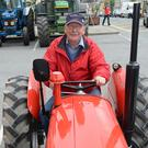Joe Roche behind the steering to his 1961 Massey Ferguson. All photos by John Tarrant