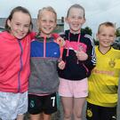 Ella Taylor, Erika Brosnan, Cora Taylor and Alan Brosnan from Kilbrin completed the Castlemagner Road Run. Picture John Tarrant