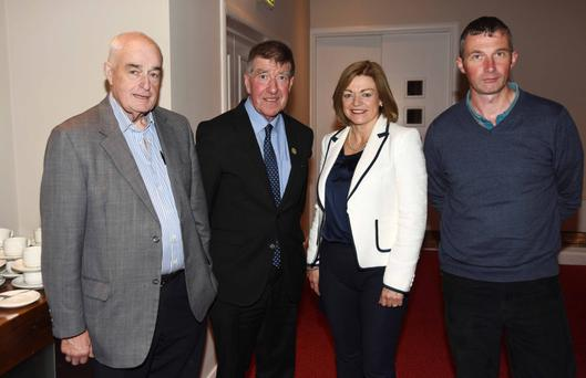 Ned O'Keeffe, Cllr Ian Doyle, Cllr Deirdre O'Brien and Tom Maguire of Doneraile Development Association at the meeting on the Cork City boundary extension at Charleville