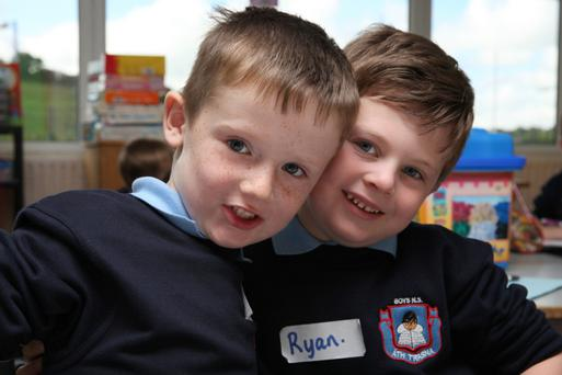 Cathal Fitzpatrick and Ryan Jones on their first day in Newmarket BNS