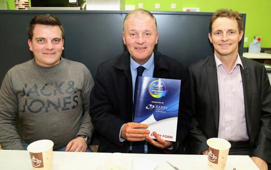 Michael Kozera, Paul Quinn (Internship Training & Development Ltd.) and Niall Lehane (Thermosafe Mallow) pictured at Mallow Business Awards launch. Photo: Sheila Fitzgerald
