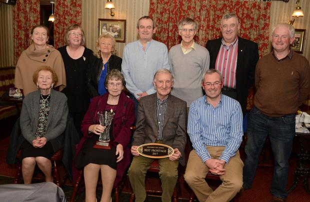 Noel C Duggan pictured on receiving the Best Commercial Frontage at the annual Millstreet Tidy Towns Awards presentation at a function in the Clara Inn. Included are Kathleen Crowley, Margaret Moynihan, Derry Sheehan, Aine Murphy, Pat Randles, Kathleen Kelleher, Joe Fitzgerald, John Randles, Gordon O'Keeffe and Denis Hickey