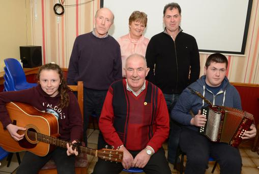 Contestants in the opening heat in the Millstreet Community Council Talent Competition at Carriganima Pub were Lydia McDonagh, John O'Sullivan, David Kelleher, Pat Joe Kelleher, Margaret Twomey and Declan Healy. Picture John Tarrant