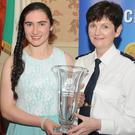 Elaine Nagle of Rathmore was presented with an award by the Assistant Commissioner Anne-Marie McMahon at the Garda Youth awards which were held recently