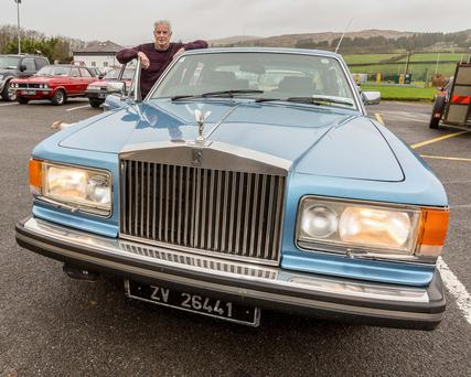 Pat Somers showing his vintage 1981 Silver Spirit Rolls Royce 6.7cc. Photos by John Delea