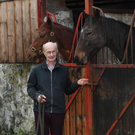 Kanturk born Dr Tom O'Brien from Ballymacelligott pictured at his home with his horses. Photo By Domnick Walsh