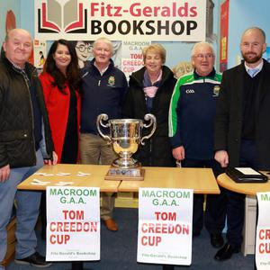Tim O'Sullivan, Marion Creedon-Hegarty, John O'Mahony, Catherine Vaughan, Pat O'Connell, Kevin O'Donovan and Dónal Leahy, at the recent Tom Creedon Cup Draw. Picture: Con Kelleher