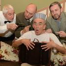 Dan Joe O'Keeffe, Seán O'Riordan, Frank Twomey and Jon O'Brien in a scene from The Glen Theatre Drama Group production of'OfftheHook'. Photo by John Tarrant