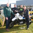 Cork Lord Mayor Cllr Tony Fitzgerald launching the 2018 Monster Motorcycle Show with Cork Motorcycle Racing and Vintage Club members JJ O'Mahony and Robert Farrissey and Jer Henry, Kearys BMW Motorrad. Photo: Tony O'Connell Photography