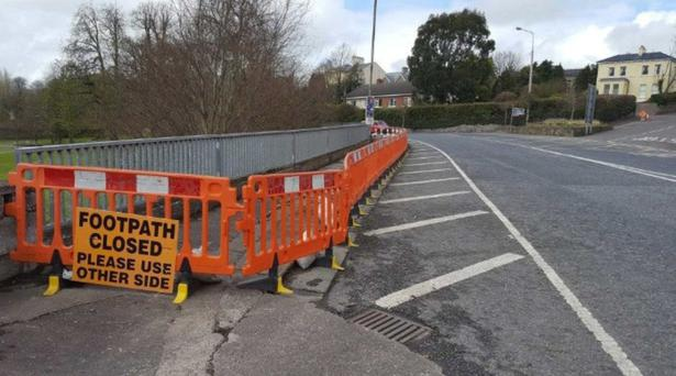 The section of footpath on the N72 in Fermoy that has been closed to the public for almost four years