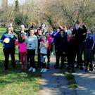 McEgan College students took a theraputic walk through the Castle Grounds recently as part of Mental Health Week