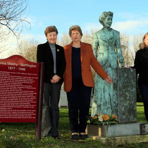 Honouring the home grown hero, Hanna Sheehy Skeffington were (L-R) Mary Creedon, IRD Duhallow, Judy O'Leary, Chairperson, Duhallow Women's Forum, Jeanette O'Connell, Duhallow Women's Forum, Kasia Meller, IRD Duhallow and Jacinta Carroll IRD Duhallow