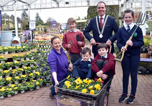 Enjoying the fun at the launch of the 2018 Muintir na Tire Schools Garden Competition