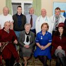 The cast of the Glen Theatre Drama Group's latest production, Ray Cooney's farce 'It Runs in the Family'
