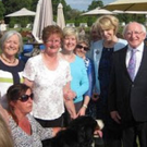 Members of the Mallow Women for Women group with President Michael D Higgins during a visit to Arasan Uachtarain in 2015