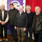 Stephen Travers, Jackie McAuley, Liam Dwyer, David Peare and Con Twomey are the guests on Jimmy Reidy's 'Round the Fireside' shows on C103 on April 23 and May 7. Photo: Sheila Fitzgerald