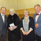 Tenor Dan Twomey, author Alice Taylor, Liz Hunter and Magician Liam Sheehan at the 'Women For Women' celebration in Mallow last Friday night