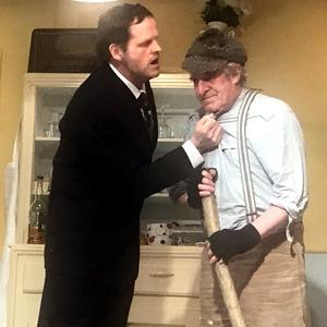 Sean Biggane takes on the lead role as The Hiker with Patrick Larkin as Joe Lacey in the brand new play'The Year of the Hiker' from Tullylease Drama Group
