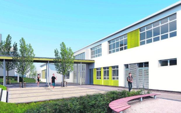 An artist's impression of how part of the extension Coláiste an Chraoibhin in Fermoy will look
