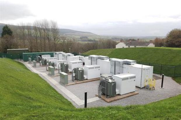 A 10MW/5MWh battery storage facility in Cleator, north-west England, similar in idea to the facility proposed near Ballynahulla