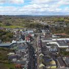 A stunning drone image of Macroom from the 'Free Market' exhibition in Venice. Credit: MAGNAPARTE@freemarket