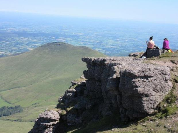 Relaxing and take in the stunning scenery during last year's Galtee Walk fundraiser for the Fermoy branch of Multiple Sclerosis Ireland