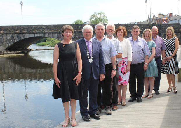 Mary Colette Sheehan, director Thomas Kent History Symposium; Cllr Frank O'Flynn; Gerry White, military historian; Ian Fleming, Thomas Kent History Symposium;Marie Barry, AIB Fermoy; Cllr Noel McCarthy; Dee McCarthy, Fermoy Forum; Kieran Barry, Fermoy Community Youth Centre and Cllr Deirdre O'Brien at the launch of the 2018 symposium in Fermoy
