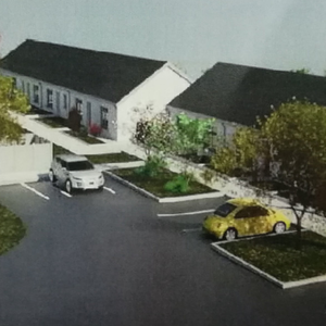 An artist's impression of the planned social housing development on the site of the former sand quarry at Forest View in Mallow