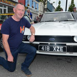 Michael O'Callaghan from Castlemagner brought his prized 1979, 2-Litre Ford Capri on the Millstreet Vintage Club Circuit of Ireland Stages Run