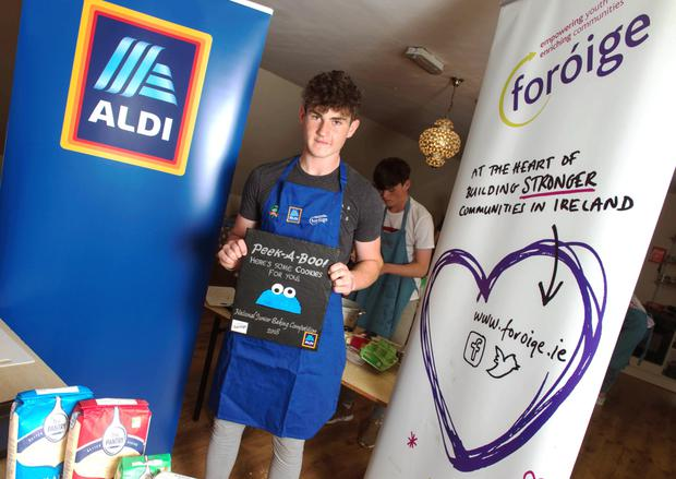 Brian Dineen, prizewinner in the Regional Foroige/Aldi National Junior Baker competition. Brian is from Coachford. Pic Michael Mac Sweeney/ Provision