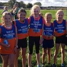 West Muskerry AC Girls U11, including Eabha Ni Chonaola who won the 4th place medal