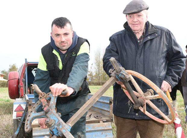 Jeremiah Delaney and Humphrey O'Sullivan were busy setting up a plough. Photos by John Tarrant